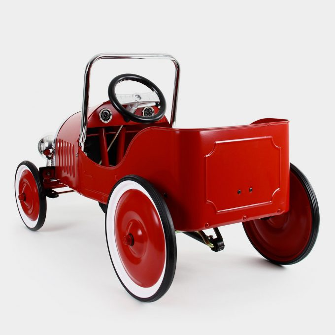 Classic Red Pedal Car Rear