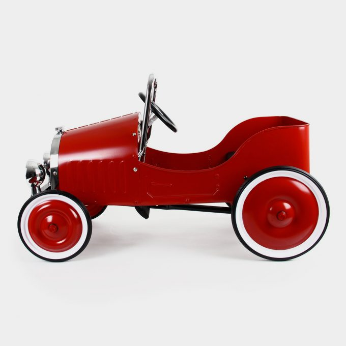 Classic Red Pedal Car Side
