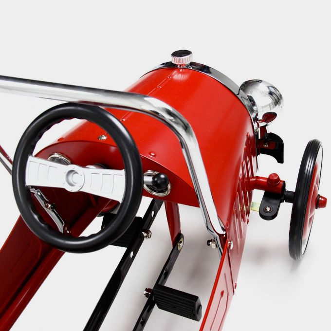 Classic Red Pedal Car Inside