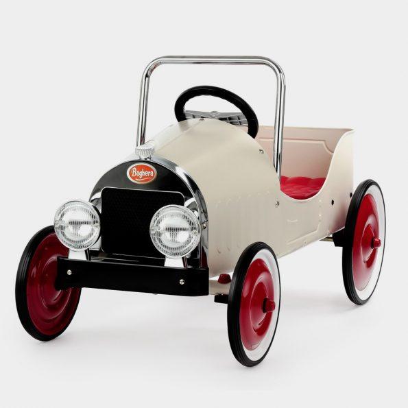 Classic White Pedal Car