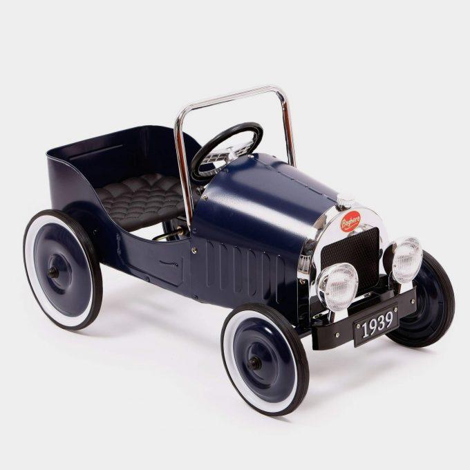 Classic Blue Pedal Car 3/4