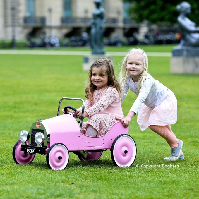 Classic Pink Pedal Car